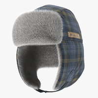 3D trapper hat columbia fur