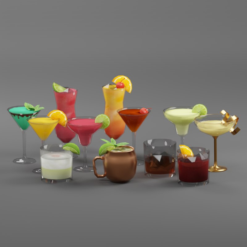 cocktail drink beverage model