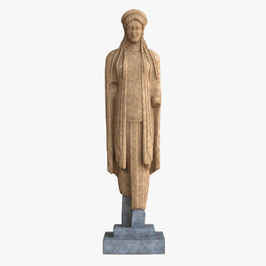 kore statue 3D