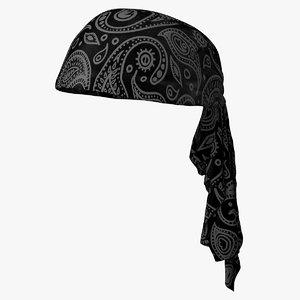 headscarf bandana scarf head 3D model