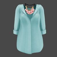 blouse set 3D model