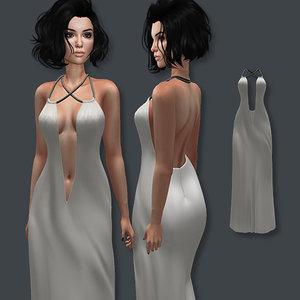 3D long dress