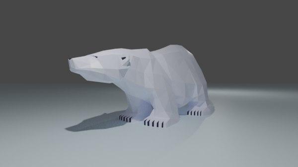 stylized polar 3D model