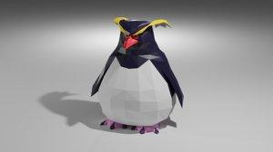 rockhopper penguin 3D
