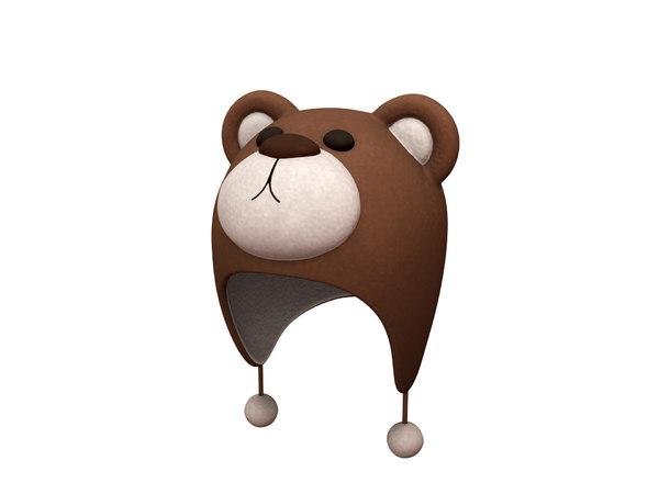 bear hat 3D model