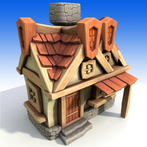 cartoon house model