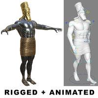 3D model daniel 2 statue king