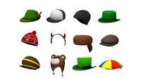 3D hats beanie headband cap model