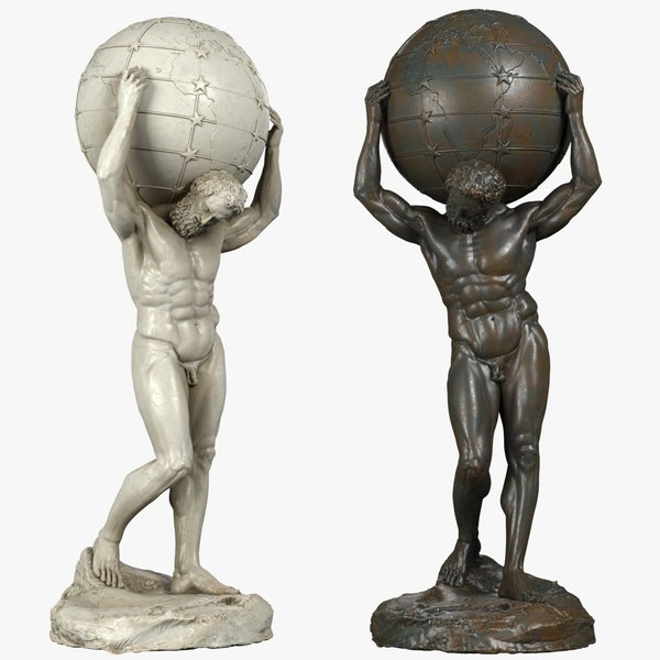 3d model atlas sculpture bronze
