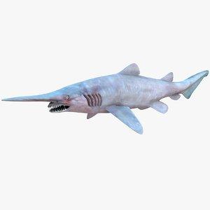 3d model realistic female goblin shark