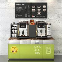 3D rex royal s500 coffee machine model