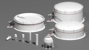 3D industrial tanks
