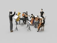 Low Poly Orchestra Music Player