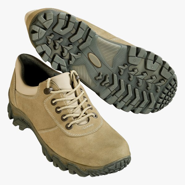 realistic shoes coyote 3D model