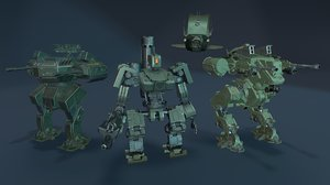 3D military robots pack