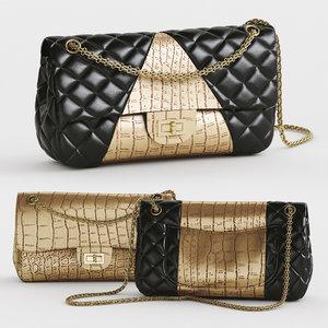 handbag chanel 3D model