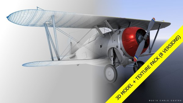 grumman aircraft airplane 3D model