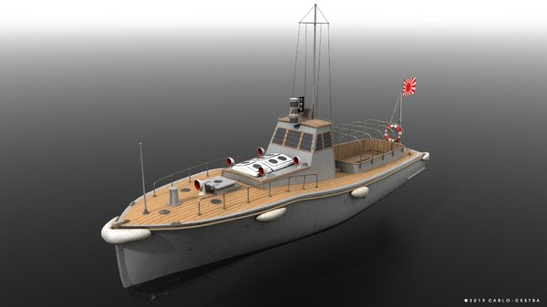 motor boat japanese warships 3D model