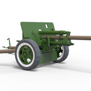 gun zis-3 3D