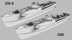 s100 schnellboot s38-b 3D model