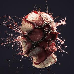 3D splash head 3