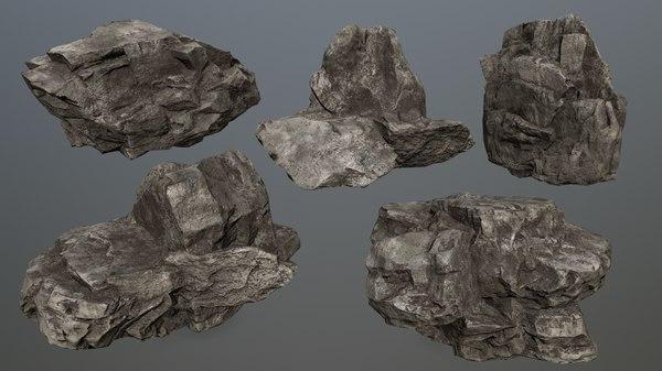 rock 1 3D model