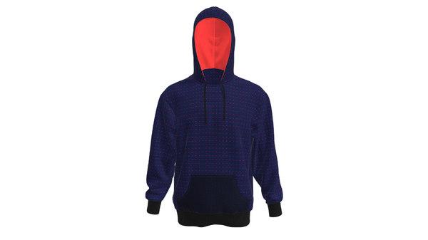 men hoodie model