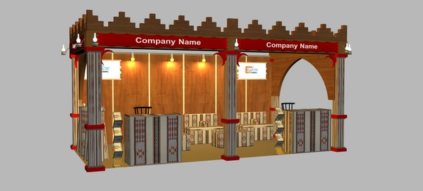 exhibition booth 3x6 3D model