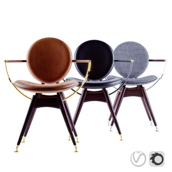 3D overgaard dyrman circle dining chair