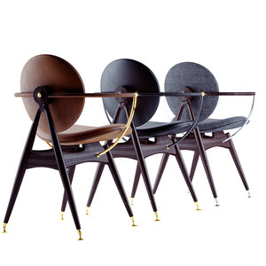 3D overgaard dyrman circle dining chair
