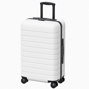 3D suitcase trolley case model