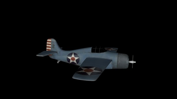 american wwii fighter aircraft 3D model