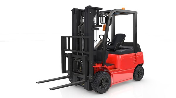 3D animation forklift