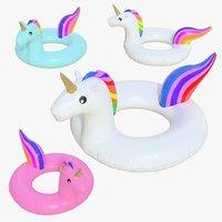 float ring unicorn set 3D model