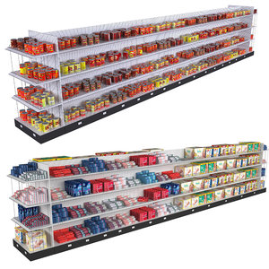 3D supermarket shelving tomatoes