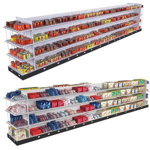 3D supermarket shelving tomatoes