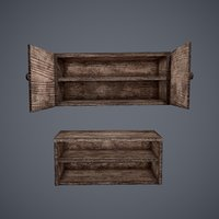 tavern cupboard counter set 3D model
