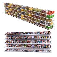 newspapers chips shelf magazine 3D model