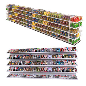 newspapers chips shelf magazine 3D model
