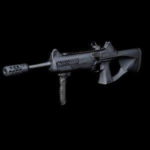 beretta storm assault rifle 3D