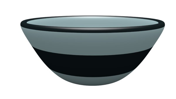 3D unwrapped bowl model