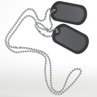 3D model dog tags