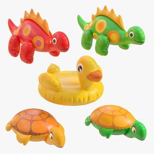 3D realistic inflatable toys model