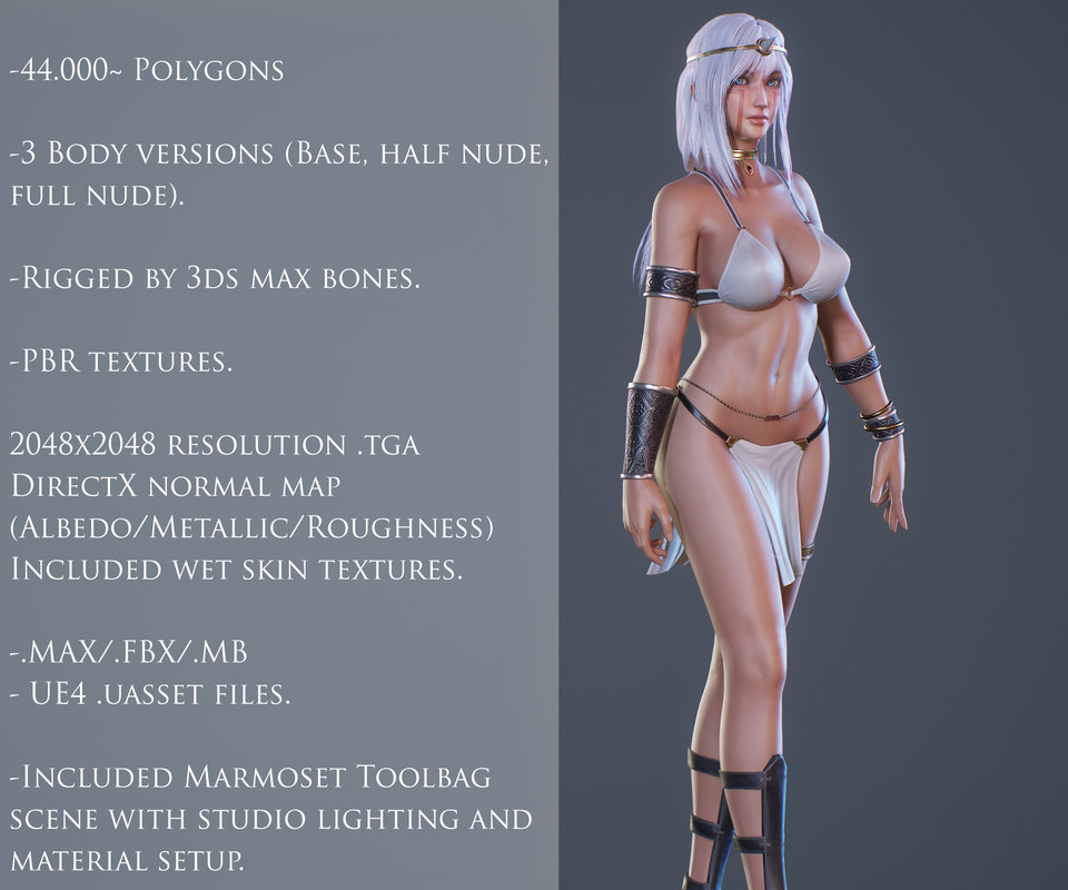 Ancient Tribal Goddess - Game Ready