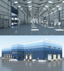 warehouse logistic interior 3D