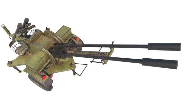 3D zu-23-2 pilica set model