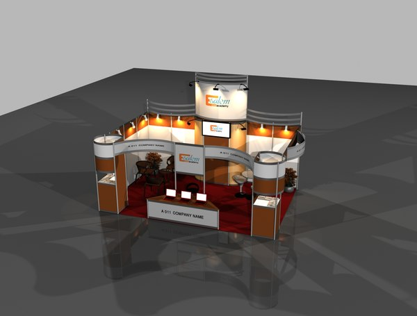 exhibition booth 4x6 3D