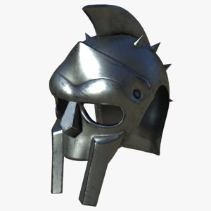 ancient gladiator helmet 3D model