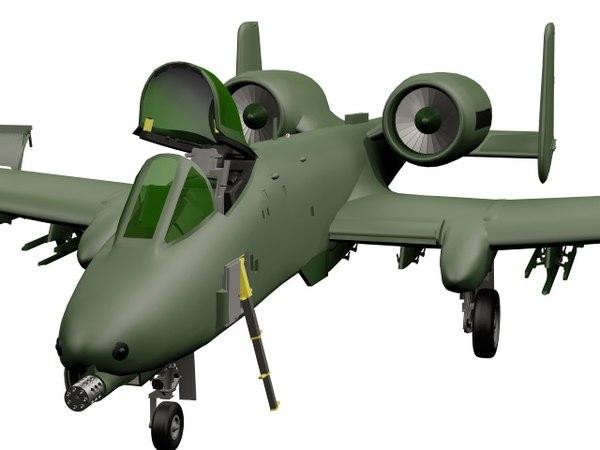 a-10 jet aircraft 3D model