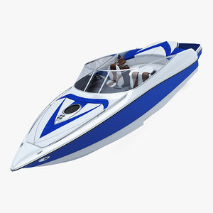 generic speed sea boat 3D model